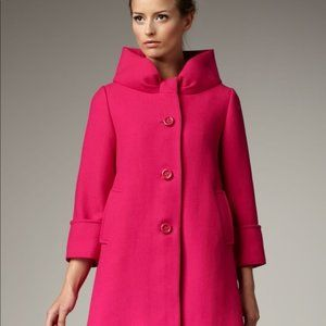 Kate Spade Cherie Pink Coat - 6 - Bow Neck